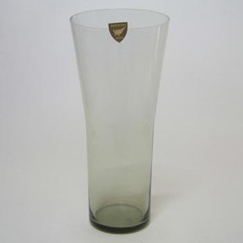 Orrefors Swedish Smoky Glass Vase - Labelled