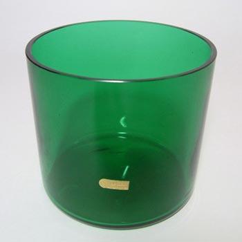 Pukeberg Swedish Green Glass Vase - Labelled