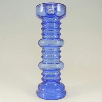 Riihimaki #1964 Riihimaen Blue Glass 'Carmen' Candlestick