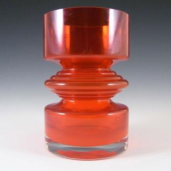 Riihimaki #1442 Riihimaen Nanny Still Red Glass 'Tiimalasi' Vase