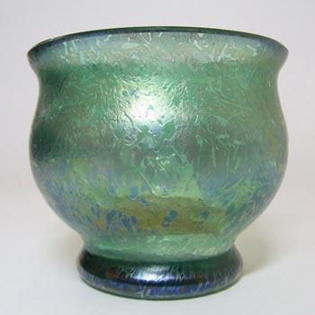 Royal Brierley Green Glass 'Studio' Vase - Marked