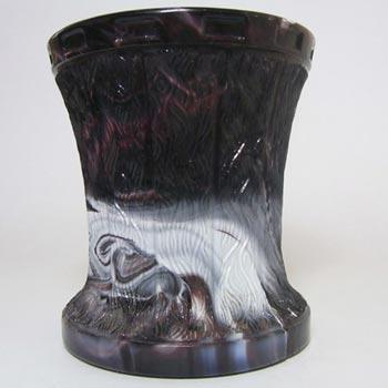 Victorian 1890's Purple Malachite/Slag Glass Vase