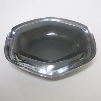 Stromberg Swedish Smokey Cased Glass Bowl - Signed