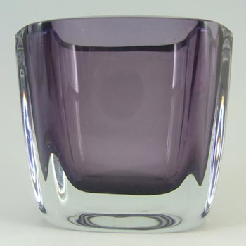 Stromberg Swedish Purple Cased Glass Vase - Signed