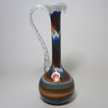 V.B. Opaline Florence Italian Empoli Glass Jug - Labelled
