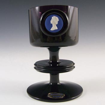 MARKED Wedgwood Amethyst Glass Sheringham Candlestick RSW13/1