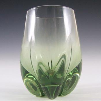 Whitefriars #9392 Baxter Sea Green Glass Lobed Vase