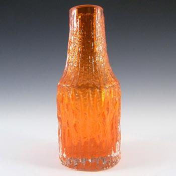 Whitefriars #9730 Baxter Tangerine Glass 'Bottle' Vase