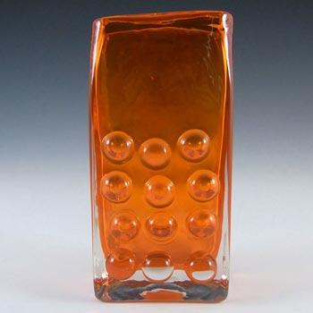 Whitefriars #9670 Baxter Tangerine Glass Mobile Phone Vase