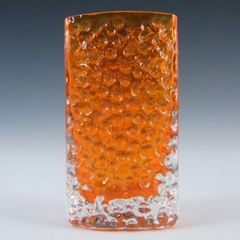 Whitefriars #9762 Baxter Tangerine Glass Nailhead Vase