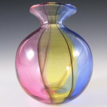 RARE Archimede Seguso Murano 'Carnival' Glass Vase - Signed