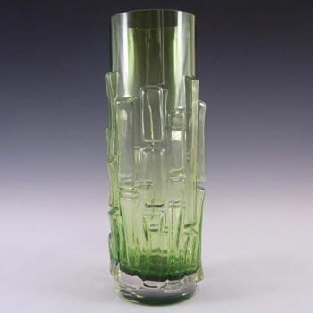 Aseda Swedish Green Glass Bark Vase - Bo Borgstrom B5/832