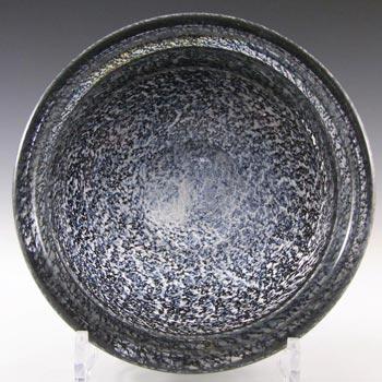 Aseda Swedish Grey Glass Bubble Bowl by Bo Borgstrom