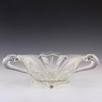 Brockwitz Large Art Deco Glass Serpent Centerpiece Bowl