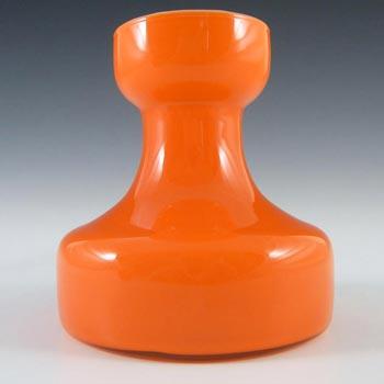 Empoli Italian Scandinavian Style Orange Cased Glass Vase