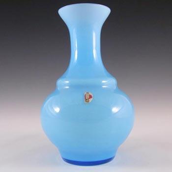 Ryd 1970s Scandinavian Blue Cased Glass Vase - Labelled