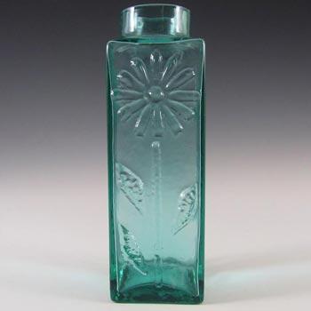 Dartington #FT59 Frank Thrower Turquoise Glass Daisy Vase