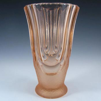 Walther & Sohne 1930's Art Deco Pink Glass 'Luxor' Vase