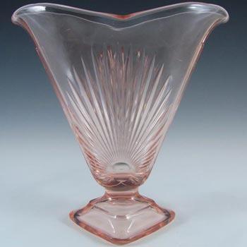 Sindorf 1930's German Art Deco Pink Glass 'Isar' Vase