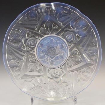 Jobling #8000 Art Deco Opaline/Opalescent Glass Tudor Rose Bowl