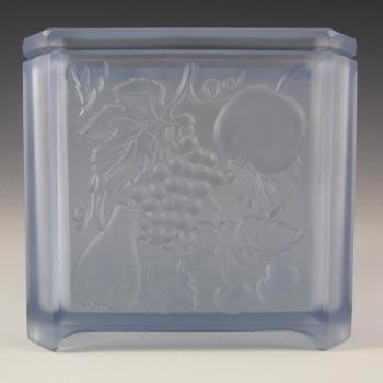 Art Deco Blue Glass Flower Bowl / Vase - Fruit Decoration