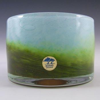 Ekenas Blue + Green Glass Vase - Signed John-Orwar Lake