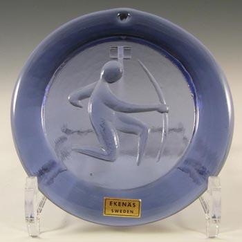 Ekenas Swedish Purple Glass Zodiac 'Sagittarius' Suncatcher