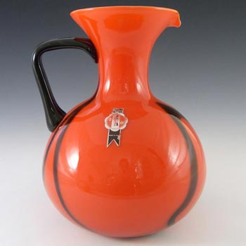 VB Opaline Florence? Empoli Italian Glass Jug - Labelled
