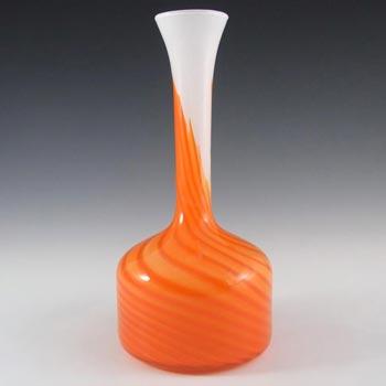 V.B. Opaline Florence Italian Empoli Orange Glass Vase