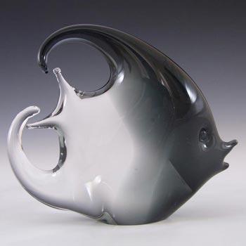Franco Bottaro Signed Smokey Murano Glass Fish Sculpture