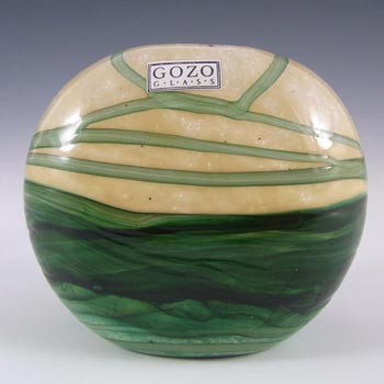Gozo Maltese Glass 'Springtime' Vase - Signed + Labelled