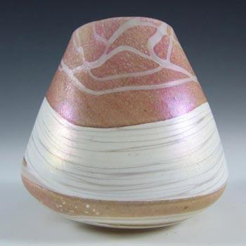 Gozo Maltese Pink + White Glass 'Sunshine' Vase