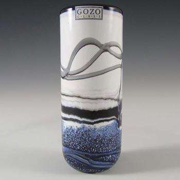 Gozo Maltese Glass 'Noir' Vase - Signed + Labelled
