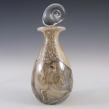 Gozo Maltese Glass 'Stone' Perfume/Scent Bottle - Signed