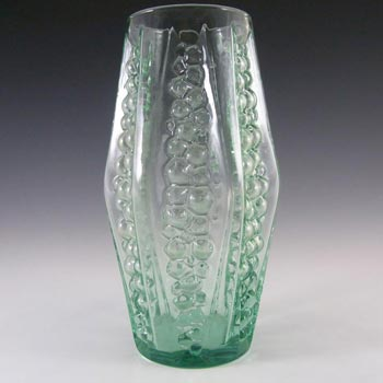 Large Green Blown Glass 'Grape' Vase - Italian?
