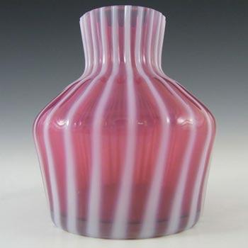 Harrachov Czech Pink Opalescent Glass Vase by Milan Metelak