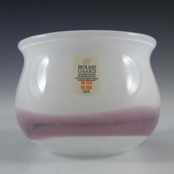 Holmegaard 'Sakura' White Glass Vase by Michael Bang