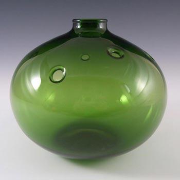 Holmegaard Michael Bang Green Glass Flower Vase - Signed
