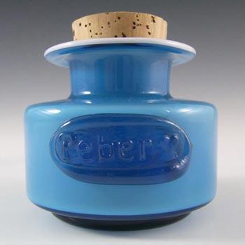 Holmegaard Palet Blue Glass 'Peber' Spice Jar by Michael Bang