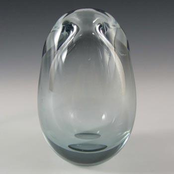 Holmegaard 'Torskemund' Blue Glass Vase by Per Lutken - Signed