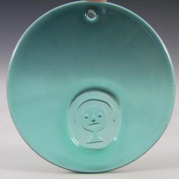 Holmegaard Jacob E. Bang Glass 'Ansigt' Face Suncatcher