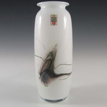 Holmegaard 'Atlantis' White Glass Vase by Michael Bang