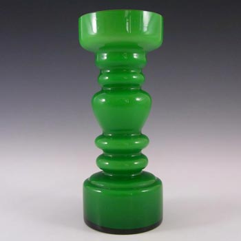 Japanese Green Cased Hooped Glass Vase - Swedish Style