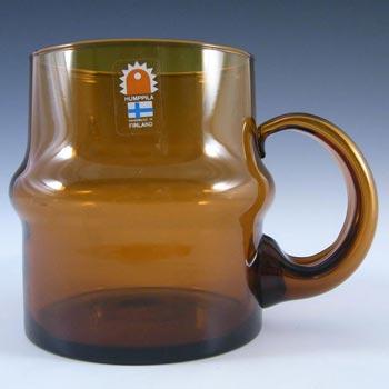 Humppila Amber Glass 'Talonpoika' Beer Mug - Labelled