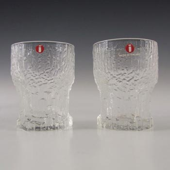 Iittala Finnish Glass Aslak Shot Glasses by Tapio Wirkkala