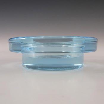 Iittala Blue Glass 'Halo' Candle Votive/Bowl - Labelled