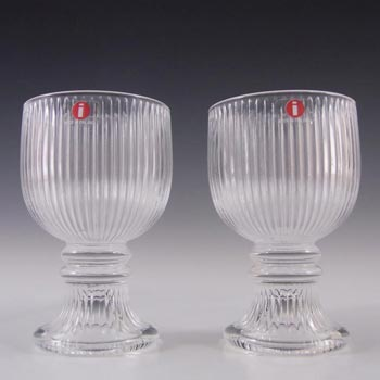 Iittala Glass Valto Kokko 'Viktor' Glasses - Labelled