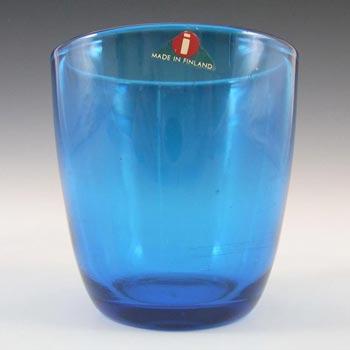 Iittala Tapio Wirkkala Blue Glass 'Tumbler 4090' - Label