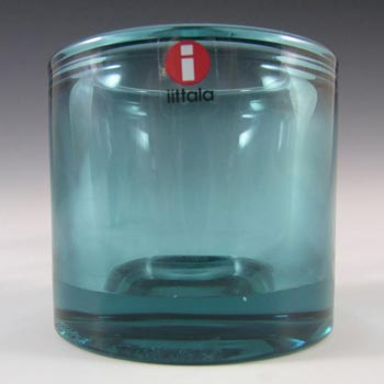 Iittala Turquoise Glass Heikki Orvola 'Kivi' Candle Votive