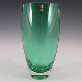 Iittala Tina Nordström Green Glass 'Leia' Vase - Label